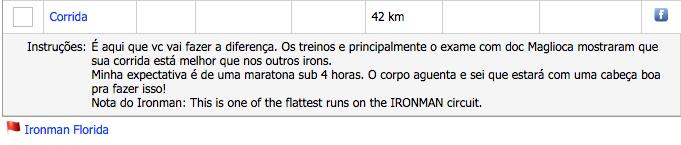 Orientação da corrida da prova feita pelo Fábio na planilha! :)